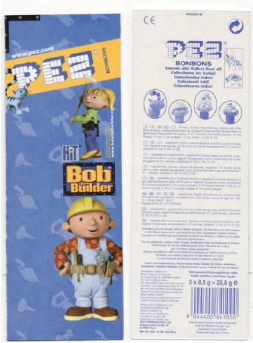 PEZ - Card MOC -Bob the Builder - Pilchard - Pointed Ears