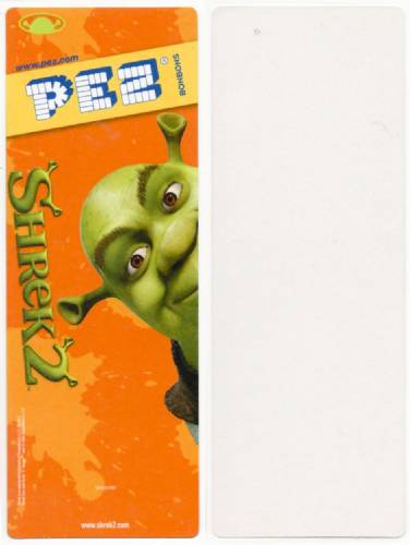 PEZ - Card MOC -Dreamworks Movies - Shrek - Shrek