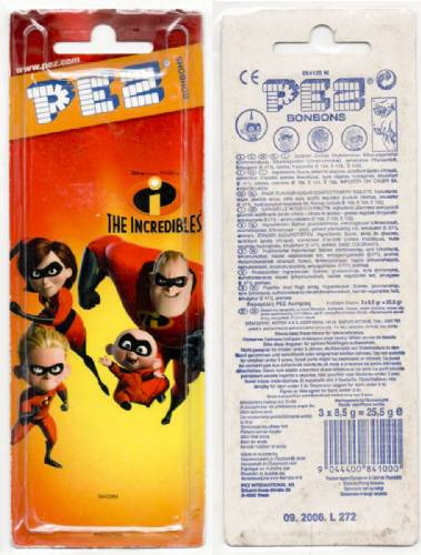 PEZ - Card MOC -Incredibles, The - Incredibles 1 - Dash - Masked - A
