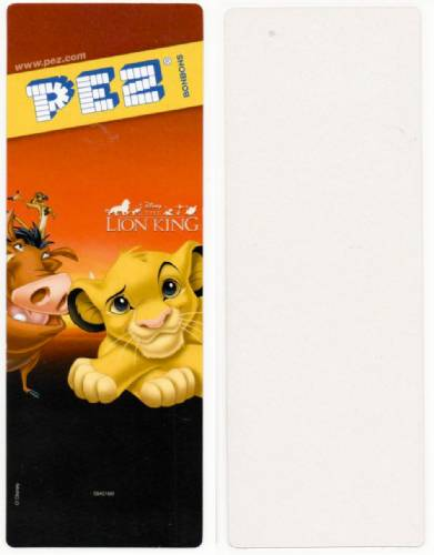 PEZ - Card MOC -Disney Movies - Lion King - Pumbaa