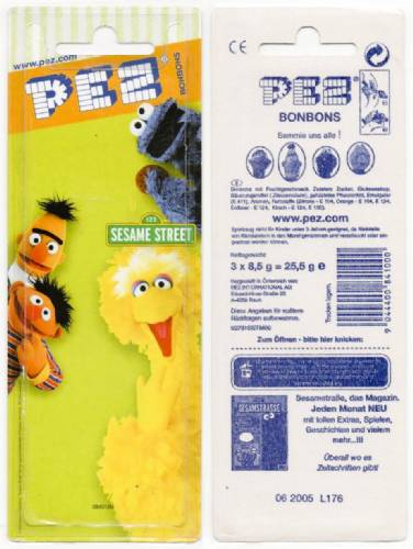 PEZ - Card MOC -Sesame Street - Big Bird - Yellow Head