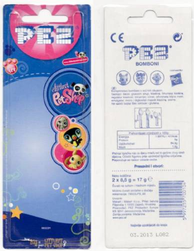 PEZ - Card MOC -Movie and Series Characters - Littlest Pet Shop - Cat