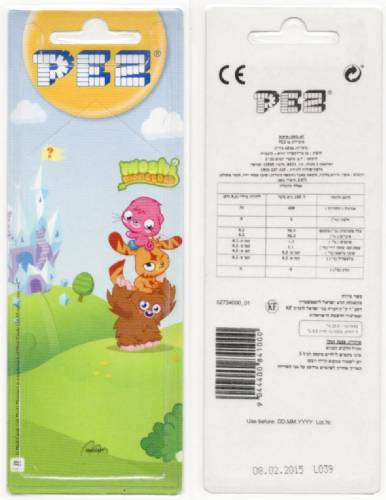 PEZ - Card MOC -Animated Movies and Series - Moshi Monsters - Katsuma