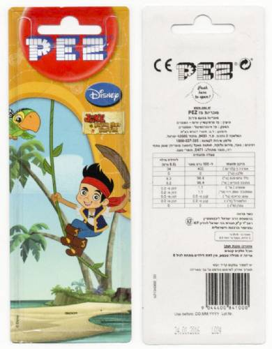 PEZ - Card MOC -Disney Movies - Jake and the Never Land Pirates - Jake
