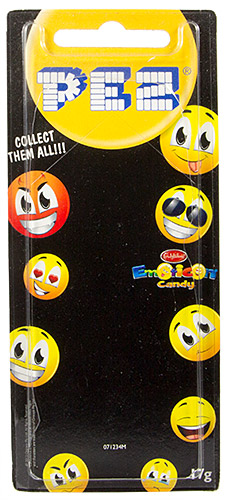 PEZ - Card MOC -Funky Faces - Emoticons - Slick - Australian release