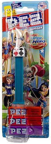 PEZ - Card MOC -Super Heroes - Super Hero Girls - Harley Quinn