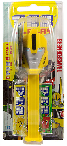 PEZ - Card MOC -Transformers - Robots in disguise - Bumblebee - with play code - B