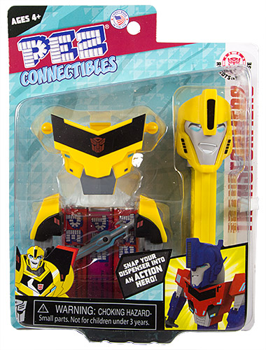 PEZ - Card MOC -Transformers - Connectibles - Bumblebee - B