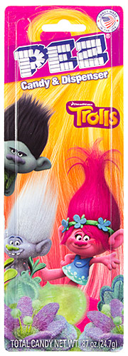 PEZ - Card MOC -Dreamworks Movies - Trolls - Branch - Purple