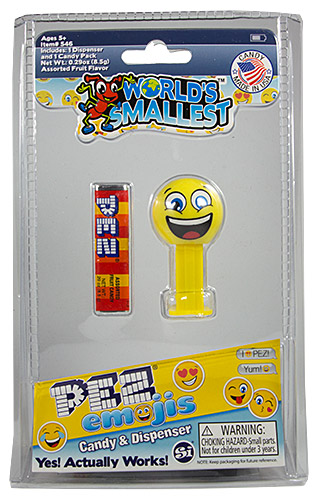 PEZ - Card MOC -Miscellaneous - World's smallest PEZ - Happy