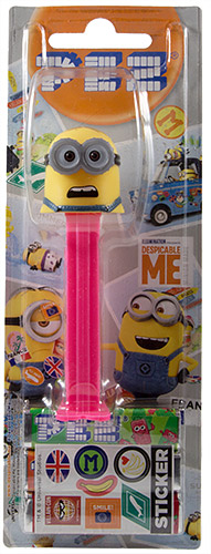 PEZ - Card MOC -Despicable Me - Despicable Me 3 - Minion Dave - screaming mouth - B