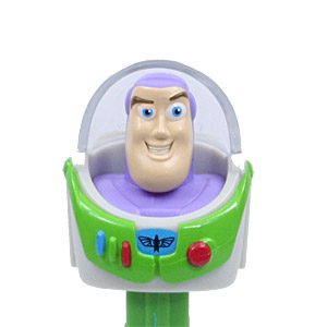 PEZ - Toy Story - Buzz Lightyear - white painted teeth, flesh skin