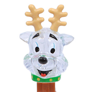 PEZ - Crystal Collection - Reindeer - Clear Crystal Head - A