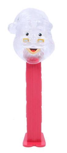 PEZ - Crystal Collection - Santa Claus - Clear Crystal Head, Clear Crystal Hat - E