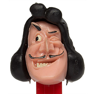 PEZ - Disney Classic - Peter Pan - Captain Hook - Tan Face