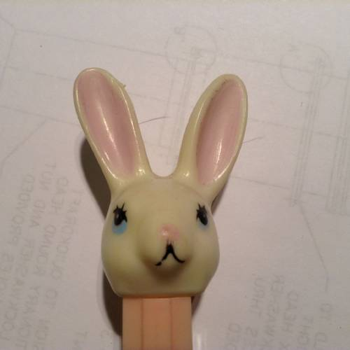 PEZ - Easter - Bunny - White Head - D