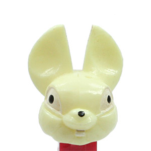 PEZ - Easter - Fat Ear Bunny - Fat Ear Bunny - Ivory Head