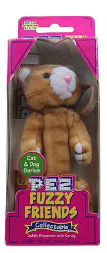 PEZ - Plush Dispenser - Fuzzy Friends Dogs & Cats - Puff the Cat