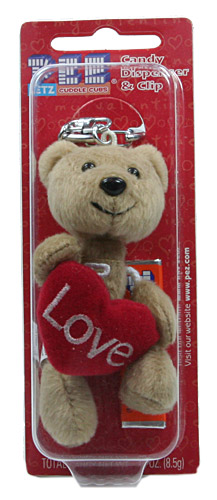 PEZ - Plush Dispenser - Cuddle Cubs - 2006 - Brown Bear