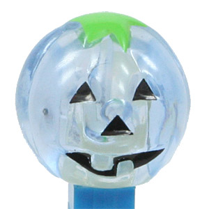 PEZ - Crystal Collection - Pumpkin - Light Blue Crystal Head - C