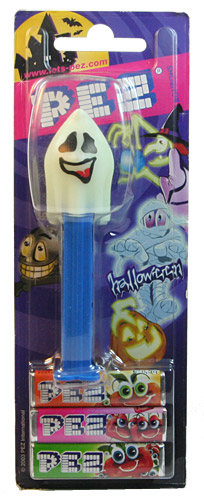PEZ - Glow-in-the-Dark - Glowing Ghosts - Naughty Neil - Glowing