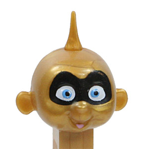 PEZ - Incredibles, The - Incredibles 1 - Jack-Jack - Masked, Gold Head - A
