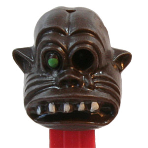 PEZ - Miscellaneous - One-Eyed Monster - Black Head, Green Eye