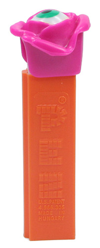 PEZ - Miscellaneous - Psychedelic Flower - Pink Flower, Green Eye - B