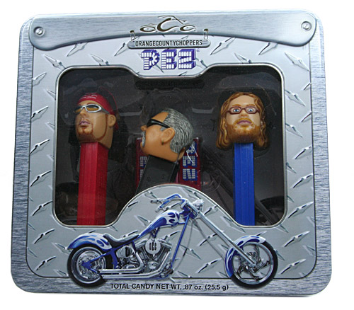 PEZ - Famous People - Orange County Choppers - OCC Tin set