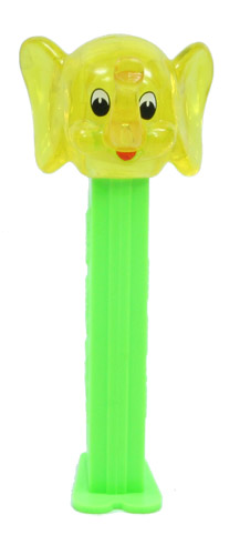 PEZ - Crystal Collection - Elephant - Yellow Crystal Head