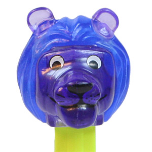 PEZ - Crystal Collection - Lion - Blue and Purple Crystal Head