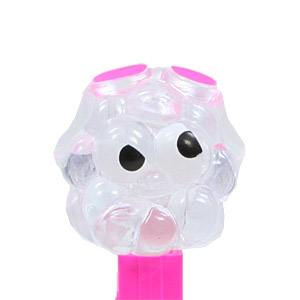 PEZ - Crystal Collection - Sour Blue Raspberry - Clear Crystal Head