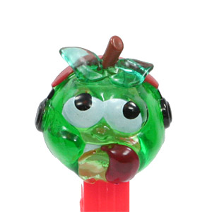 PEZ - Crystal Collection - Sour Green Apple - Green Crystal Head