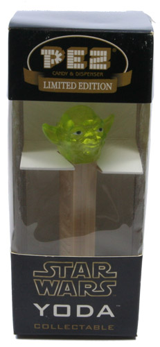 PEZ - Star Wars - Limited Edition - Yoda - Green Crystal Yoda - A