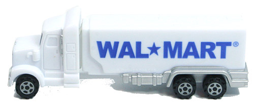 PEZ - Advertising Walmart - Truck - White cab, white trailer