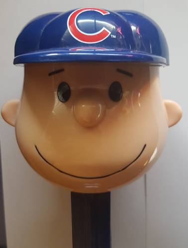 PEZ - Giant PEZ - Peanuts - MLB Charlie Brown - Chicago Cubs