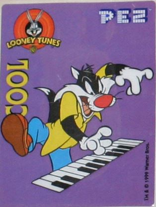 PEZ - Stickers - Looney Tunes Cool - Keyboard Sylvester