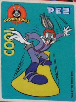 PEZ - Stickers - Looney Tunes Cool - Surfing Bugs