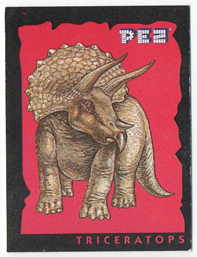 PEZ - Stickers - Dinosaurs - Triceratops
