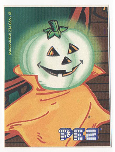 PEZ - Stickers - Glowing Ghosts - Polly Pumpkin
