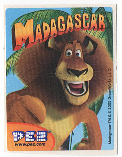 PEZ - Stickers - Madagascar - Alex