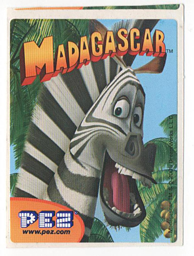 PEZ - Stickers - Madagascar - Marty
