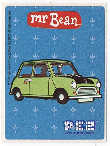 PEZ - Stickers - Mr. Bean - Mini Cooper