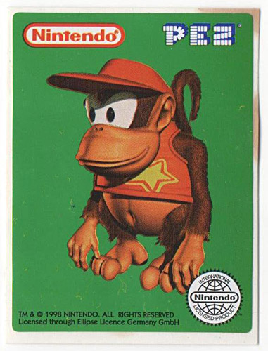 PEZ - Stickers - Nintendo - Diddy Kong