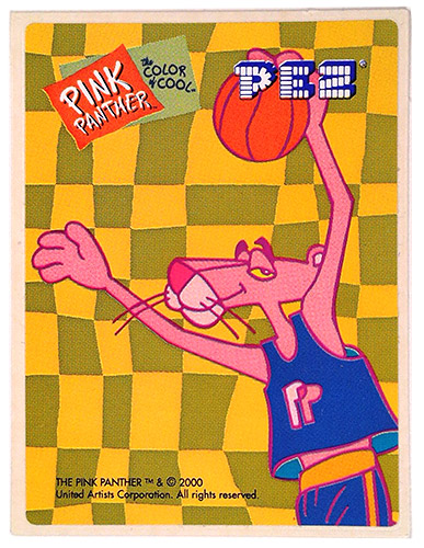 PEZ - Stickers - Pink Panther Color of Cool - Basketball Panther