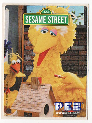 PEZ - Stickers - Sesame Street - Big Bird