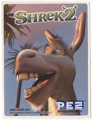 PEZ - Stickers - Shrek 2 - Donkey