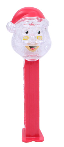 PEZ - Crystal Collection - Santa Claus - Clear Crystal Head, Red Hat - E