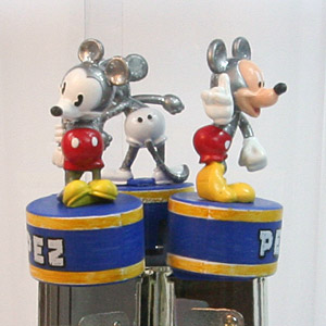 PEZ - Collectors Set - Mickey Mouse - Silver Edition