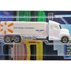 PEZ - Advertising Walmart save money - Tanker - White cab, white trailer